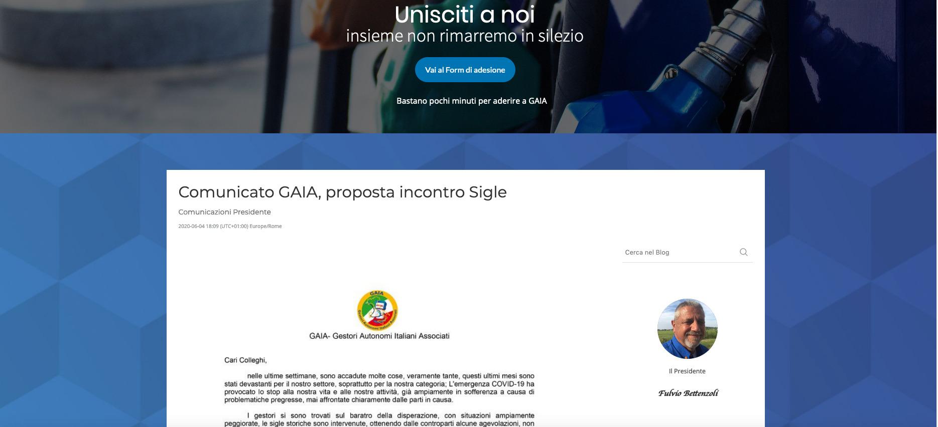 Comunicato GAIA, proposta incontro Sigle